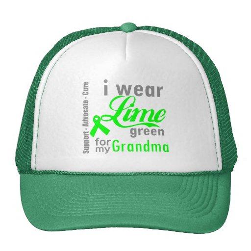 Lymphoma Lime Green Ribbon For My Grandma Mesh Hat