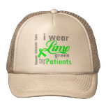 Lymphoma Lime Green Ribbon For My Patients Mesh Hats