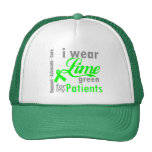 Lymphoma Lime Green Ribbon For My Patients Trucker Hats