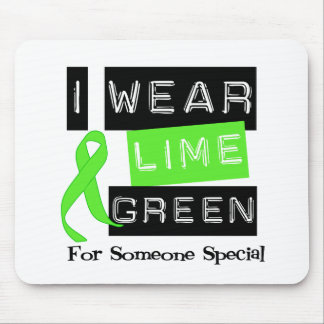 Lymphoma Lime Green Ribbon For Someone Special Mouse Pad