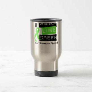 Lymphoma Lime Green Ribbon For Someone Special Travel Mug