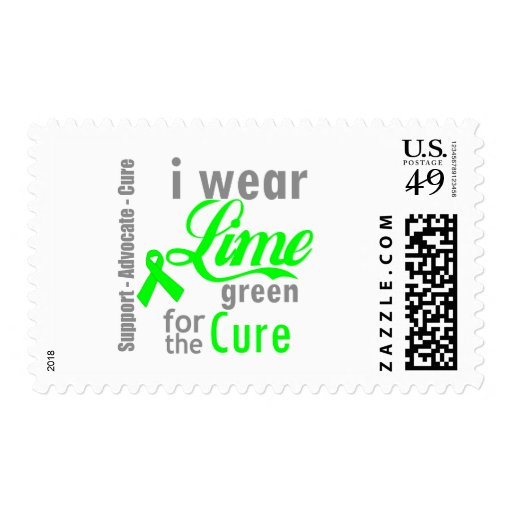 Lymphoma Lime Green Ribbon For The Cure Postage Stamps