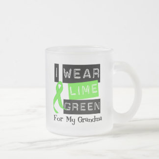 Lymphoma Lime Green Ribbon Grandma Mug