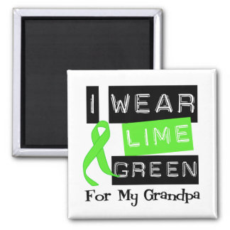 Lymphoma Lime Green Ribbon Grandpa Magnet