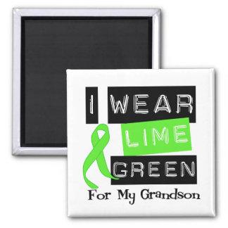 Lymphoma Lime Green Ribbon Grandson Refrigerator Magnet