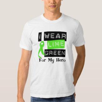 Lymphoma Lime Green Ribbon Hero Shirts