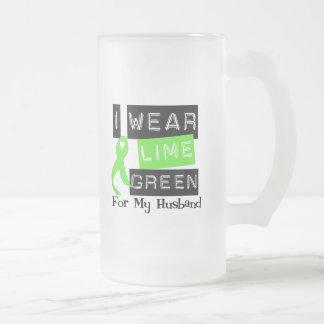 Lymphoma Lime Green Ribbon Husband Mug