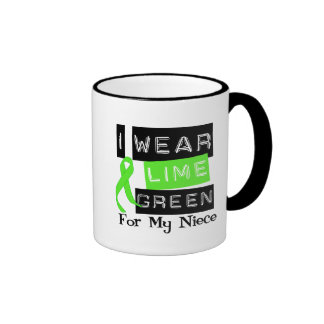 Lymphoma Lime Green Ribbon Niece Coffee Mugs