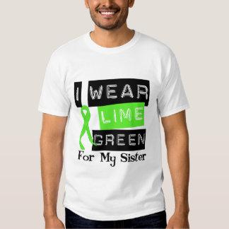 Lymphoma Lime Green Ribbon Sister Tshirts