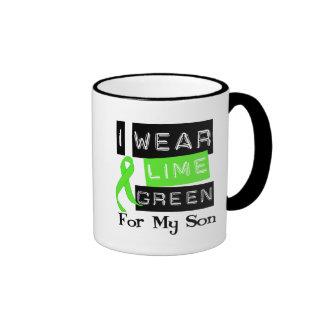 Lymphoma Lime Green Ribbon Son Coffee Mugs