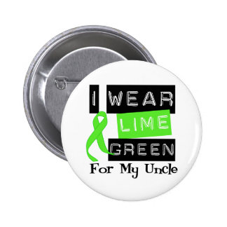 Lymphoma Lime Green Ribbon Uncle Pinback Buttons