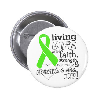 Lymphoma Living Life With Faith Pinback Button