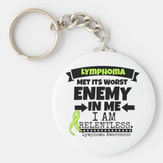 Lymphoma Met Its Worst Enemy in Me Keychain