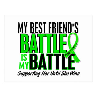 Lymphoma My Battle Too 1 Best Friend (Female) Postcard