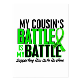 Lymphoma My Battle Too 1 Cousin (Male) Postcard