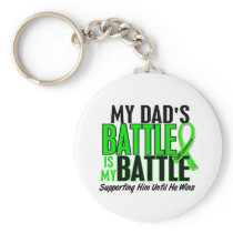 Lymphoma My Battle Too 1 Dad Keychain