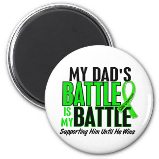 Lymphoma My Battle Too 1 Dad 2 Inch Round Magnet