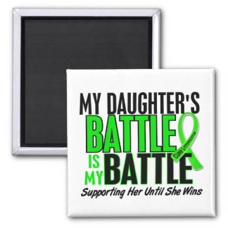 Lymphoma My Battle Too 1 Daughter 2 Inch Square Magnet