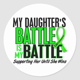 Lymphoma My Battle Too 1 Daughter Classic Round Sticker