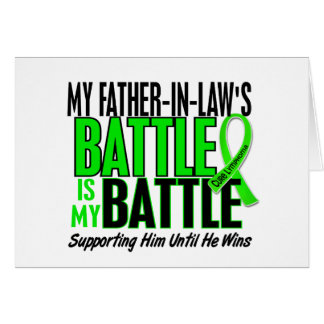Lymphoma My Battle Too 1 Father-In-Law Card