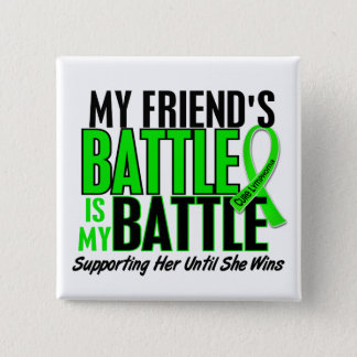Lymphoma My Battle Too 1 Friend (Female) Button