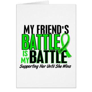 Lymphoma My Battle Too 1 Friend (Female) Card