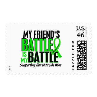 Lymphoma My Battle Too 1 Friend Female Stamp