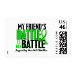 Lymphoma My Battle Too 1 Friend (Female) Stamp