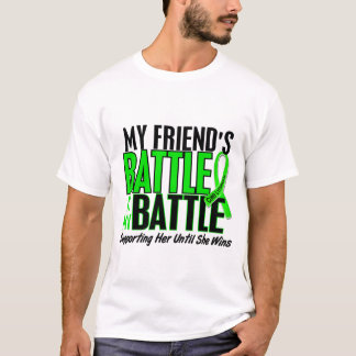 Lymphoma My Battle Too 1 Friend (Female) T-Shirt