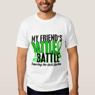 Lymphoma My Battle Too 1 Friend (Female) Tshirt