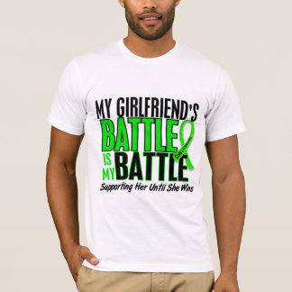 Lymphoma My Battle Too 1 Girlfriend T-Shirt