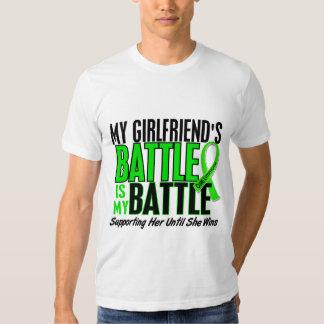 Lymphoma My Battle Too 1 Girlfriend Tee Shirt
