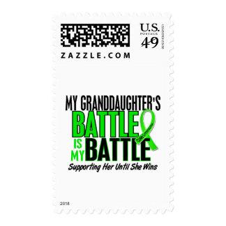 Lymphoma My Battle Too 1 Granddaughter Postage Stamp