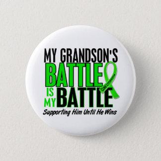 Lymphoma My Battle Too 1 Grandson Pinback Button