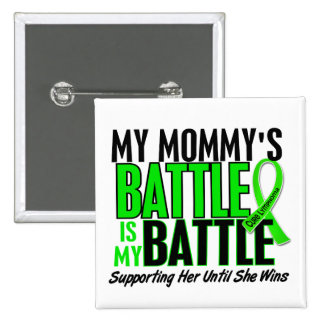 Lymphoma My Battle Too 1 Mommy 2 Inch Square Button