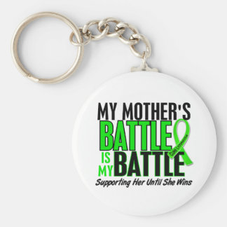Lymphoma My Battle Too 1 Mother Keychain
