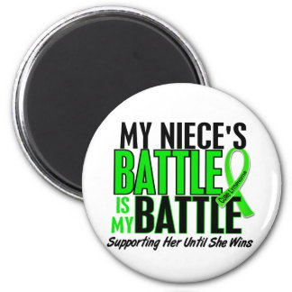 Lymphoma My Battle Too 1 Niece 2 Inch Round Magnet