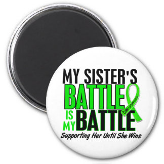 Lymphoma My Battle Too 1 Sister 2 Inch Round Magnet