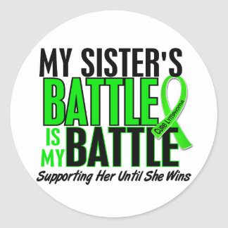Lymphoma My Battle Too 1 Sister Classic Round Sticker