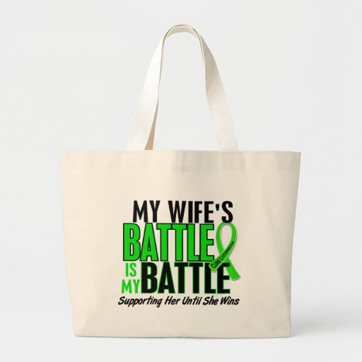 Lymphoma My Battle Too 1 Wife Canvas Bags