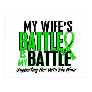 Lymphoma My Battle Too 1 Wife Postcard