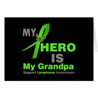 Lymphoma My Hero is My Grandpa Card