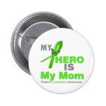 Lymphoma My Hero is My Mom Button