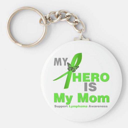 Lymphoma My Hero is My Mom Keychain