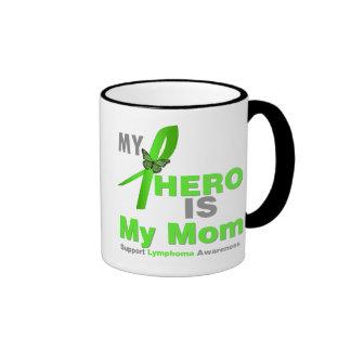 Lymphoma My Hero is My Mom Ringer Coffee Mug