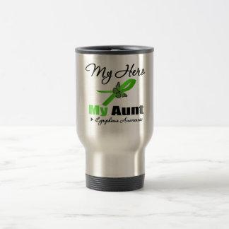 Lymphoma My Hero My Aunt 15 Oz Stainless Steel Travel Mug
