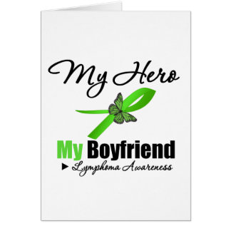 Lymphoma My Hero My Boyfriend Card