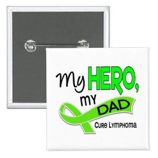 Lymphoma MY HERO MY DAD 42 Button