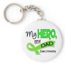 Lymphoma MY HERO MY DAD 42 Keychain