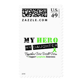 LYMPHOMA My Hero My Daughter We Will Win Postage Stamp